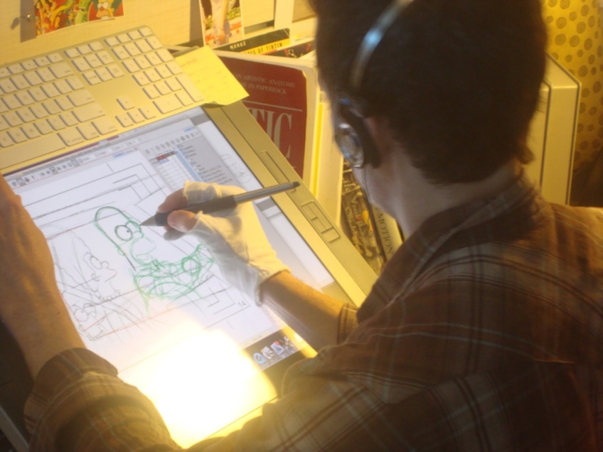 Homer Being Drawn
