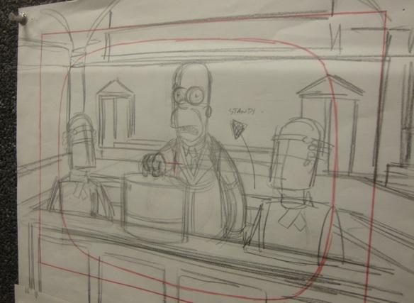 Homer Simpson Storyboard